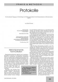Protokolle - Ein forschender Zugang zu Erklärungsmodellen für die Kommunikation in Rechnernetzen