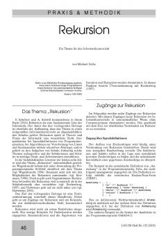 Rekursion - Ein Thema für den Informatikunterricht