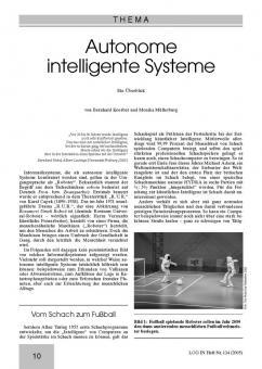 Autonome intelligente Systeme - Ein Überblick