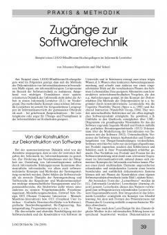 Zugänge zur Softwaretechnik