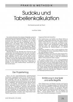 Sudoku und Tabellenkalkulation