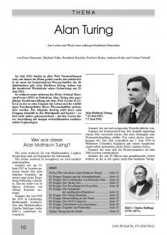 Alan Turing - Aus Leben und Werk eines außergewöhnlichen Menschen