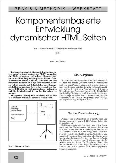 Komponentenbasierte Entwicklung dynamischer HTML-Seiten