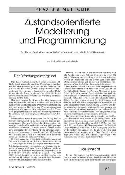 Zustandsorientierte Modellierung und Programmierung