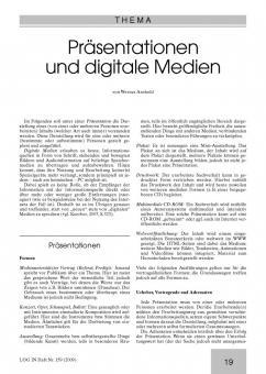 Präsentationen und digitale Medien